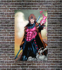 Gambit X Men Marvel Comics Art Oil Painting Hand-Painted NOT a Print Poster