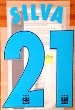 2015-16 Manchester City UCL Away Camiseta Silva #21 sportingid nombre número Set