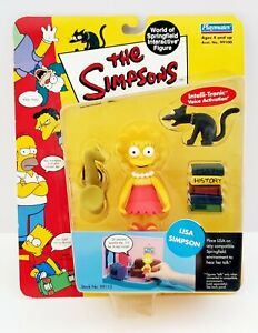 2000 The Simpsons Series 1 World of Springfield Lisa Simpson Interactive Figure