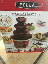 NEW IN BOX!! Bella FONDUE FOUNTAIN Chocolate And Cheese