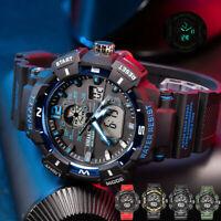 Men's Army Sport Digital Analog Alarm Waterproof Military Quartz Wrist Watch US