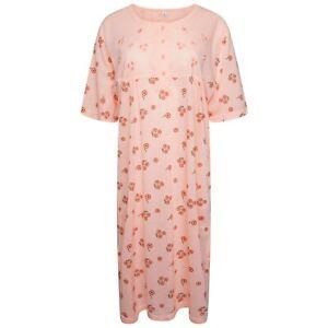 Ladies New Nightdress Floral Short Sleeve Poly Cotton Nightwear M L XL 2XL