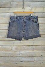 Vintage Wrangler Délavé Gris Bleu Roulé Short Jeans (W42)