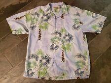 Tommy Bahama Mens 100% Silk Short Sleeve Button Shirt XL Palm Trees Hawaiian 🌴
