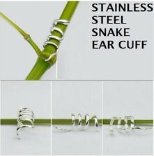 STAINLESS STEEL SNAKE EAR CUFF