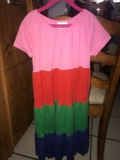 HANNA ANDERSSON GIRLS COLORBLOCK DRESS SIZE 130 / SIZE 8