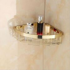 Solid Bathroom Gold Wall Shower Caddy Shelf Wire Basket Corner Storage Shelves