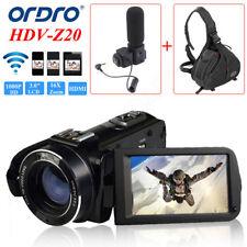 ORDRO HDV-Z20 1080P WIFI Digital Video Camera 16× Zoom + Camera Bag Waterproof