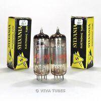True NOS NIB Matched Pair Sylvania USA 6AW8A Grey Plate Vacuum Tubes 100%