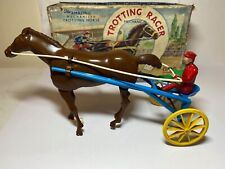 Louis Marx Trotting Racer Horse & Rider In Its Original Box - Excellent Rare