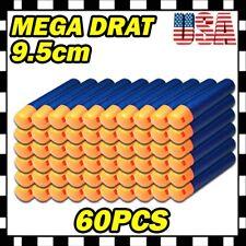 60PCS Refill Foam Bullet Darts for Nerf N-Strike Elite Mega Centurion GUN U1