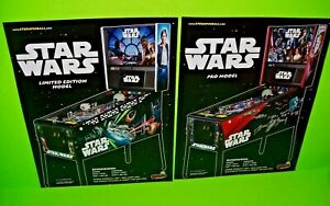 Stern STAR WARS Limited & Pro Models Original Arcade Game Pinball Machine Flyers