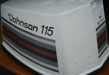 Johnson Outboard Hood Decals V4 1982 85/140 hp