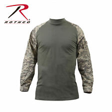 Long Sleeve Combat Shirt Heat Resistant Tactical Military Rothco, Camo, XXXL
