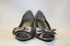 Ladies Silver George Satin Shoes Size 38 Uk 5 Wedding Party Bridesmaid Heels