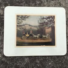 """NOBLEMAN'S STAGE COACH """"White"""" Beautiful Old Decorative Placemat Wooden Mat"""
