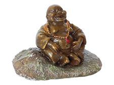 Pot Belly Estatua de Buda tailandés Ornamento de acuario peces tanque decoración oriental
