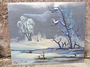 TABLEAU HSP, Roger Comte, Franc Comtois, Paysage de neige, 1913-2006