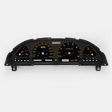 "S13 260 km/h ""Nismo Style"" Amber Cluster Faceplate Set 180SX 240SX 200SX SILVIA"