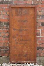 Antique Edison Diamond Disc Phonograph Wooden Crate Panel