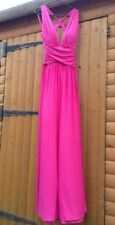 Forever Unique Ashley Deep Plunge Fuchsia Hot Pink Twist Backless Dress 8 10 12