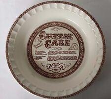 VTG Country Harvest Ceramic Cheesecake Pie Server Baker Cookware