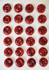 2.2cm ROJO + Granate Mármol Italiano Botones - 24 en tarjeta