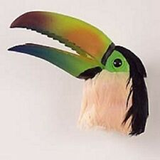 Toucan Sulphur Breast Feather Magnet. Collect Animal And Birds. Great Gifts.