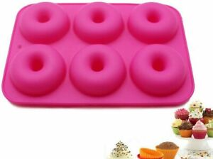 Silicone Dougnut Mould Tray Non-Stick Baking Pan For Microwave Freezer Donut