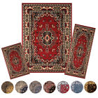 Traditional Medallion Persien 3 Pcs Area Rug Oriental Bordered Runner Mat Set