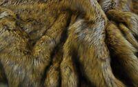 Super Luxury Faux Fur Fabric Material - LONG PILE ALSATIAN