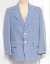 Towncraft  Blue White Stripe Blazer Jacket Barbershop  Size 42 JC Penny