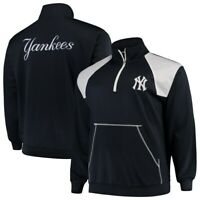 New York Yankees Majestic Men's Big & Tall 1/4 Zip Pullover Jacket Size 3XL NEW