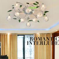 New Leaves Crystal Glass Balls Shade Ceiling Light Pendant Lamp Chandelier