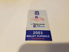 PGA Tour 2003 Golf Pocket Schedule