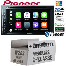Pioneer Radio für Mercedes CKlasse W203 MoPf Bluetooth Android Apple CarPlay Set