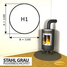 ► Kaminbodenplatte ◄ Funkenschutz Ofenplatte Kaminofenplatte ✔ Stahl grau H1