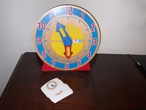 Melissa & Doug - Turn and Tell Time Wooden Clock With Cards Educational Toy