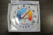 6751 Taylor Wind Chill and Heat Index Dial Thermometer Plastic Multicolored
