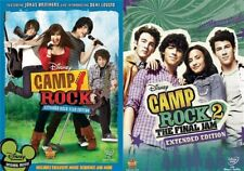 CAMP ROCK COMPLETE DISNEY MOVIE SERIES 1 & 2 New DVD Extended Edition Final Jam