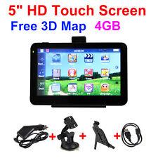 5 Inch Hd Touch Screen Car Gps Navigation Sat Nav Poi Win Ce 6.0 4Gb Free 3D Map