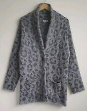 SURFACE TO AIR LADIES GREY LEOPARD PRINT CARDIGAN JACKET SIZE 36 UK 8-10 RRP$374