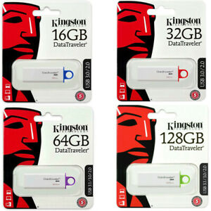 PENDRIVE KINGSTON 16 32 64 128 GB USB 3.1 CHIAVETTA DTIG4 MEMORIA ORIGINALE G4