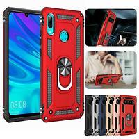 Hybrid Rugged Magnetic Ring Holder Stand Case Cover for Huawei P Smart (2019)