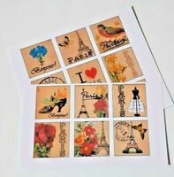 15-45 PRE-CUT SCRAPBOOKING CRAFT CARD TOPPERS EMBELLISHMENTS VINTAGE PARIS