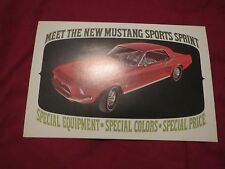 NOS 1967 FORD MUSTANG SPRINT SPECIAL RARE ORIGINAL DEALERSHIP PROMO POSTCARD