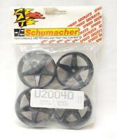 Wheels Touring Car 5 spoke 20mm wide White Schumacher Spare Part Number U2123