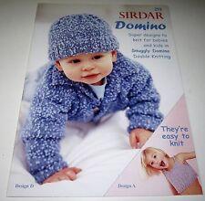 SIRDAR DOMINO knitting yarn pattern book #291 Baby thru 12 years with 9 Designs