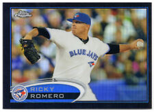 2012 Topps Chrome Black Refractor RICKY ROMERO 24/100 - Blue Jays