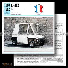 #032.09 LIGIER JS4 (Voiturette, Minicar) 1980-1982 - Fiche Auto Car card
